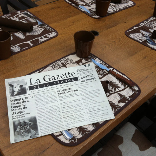 Carte-menu-journal-gazette-vintage