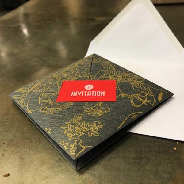 invitation en papier japonais