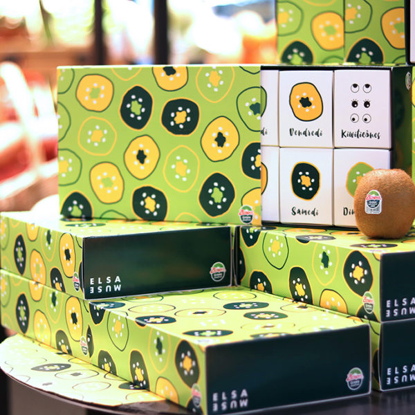 packaging kiwi vert et jaune