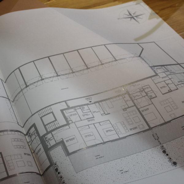 impression sur feuille de calque pour plan architecte