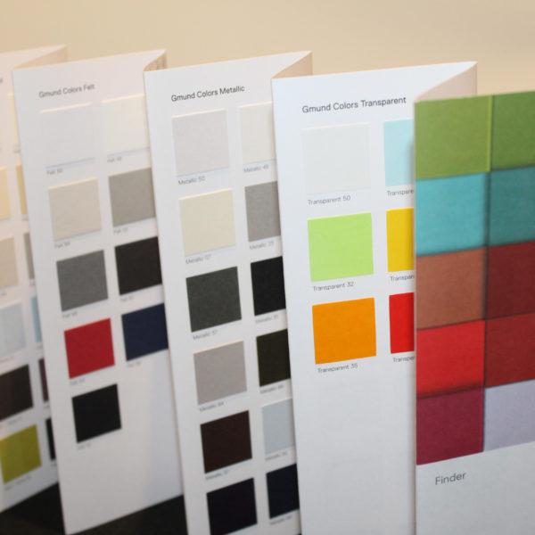 nuancier couleurs dépliant gmund