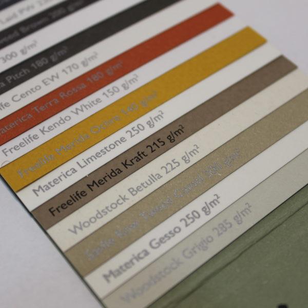 Couleurs papier environnemental fedrigoni