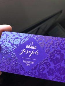 cartes visite vernis violet